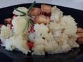 Cartofi cu rozmarin si crutoane de tofu afumat (post/vegan),retete de post, retete vegan, retete vegetariene, retete cu tofu, retete ieftine, retete simple, retete fara carne, retete usoare