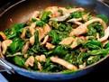 salata de spanac calit cu pui