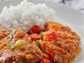 Tocana de vita cu rosii cu garnitura de orez